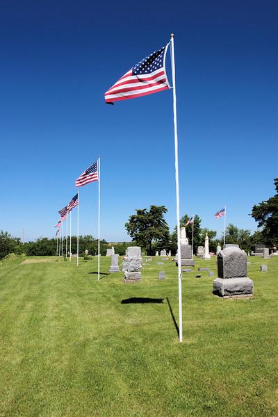 Oneida, KS cemetery Memorial Day 2010