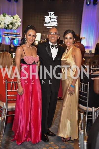Kenya Pierce, Kyle Hutchinson and Kellen Felix Dunning, TIS Foundation, 25th Anniversary Gala, Marriott Marquis, June 6, 2019, photo by Ben Droz.