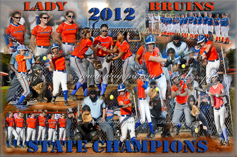 Lady Bruins 2012  State Champion Poster