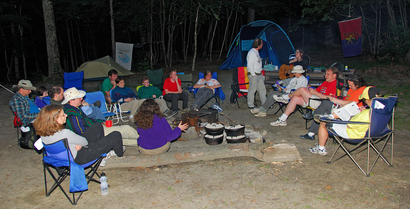 Our group around the campfire