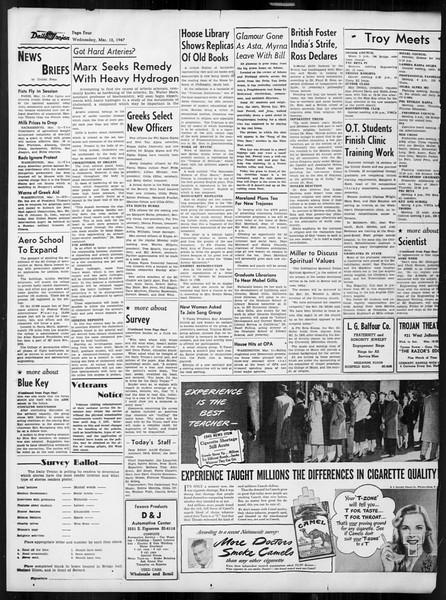 Daily Trojan, Vol. 38, No. 93, March 12, 1947