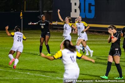 UM Women's Soccer Vs Cal State Northridge 8-22-14
