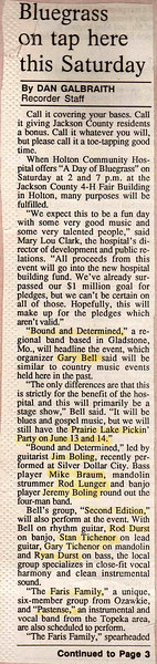 1997 Holton Hospital Fundraiser