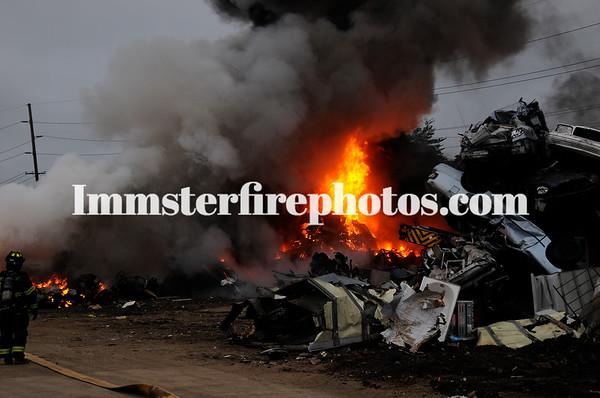 WESTBURY FD SCRAP YARD FIRE 6-7-18