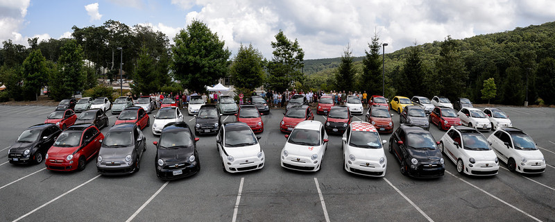 Fiat 500s at the 2012 Fiat Freakout (FFO)