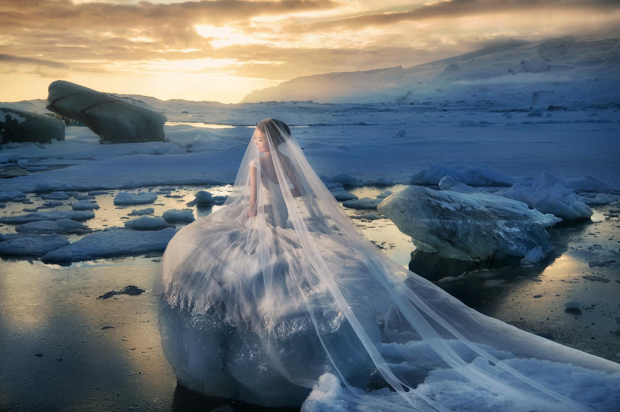 冰島婚紗攻略, 冰島婚紗, Donfer, Iceland Pre-Wedding, Jökulsárlón, 冰河湖