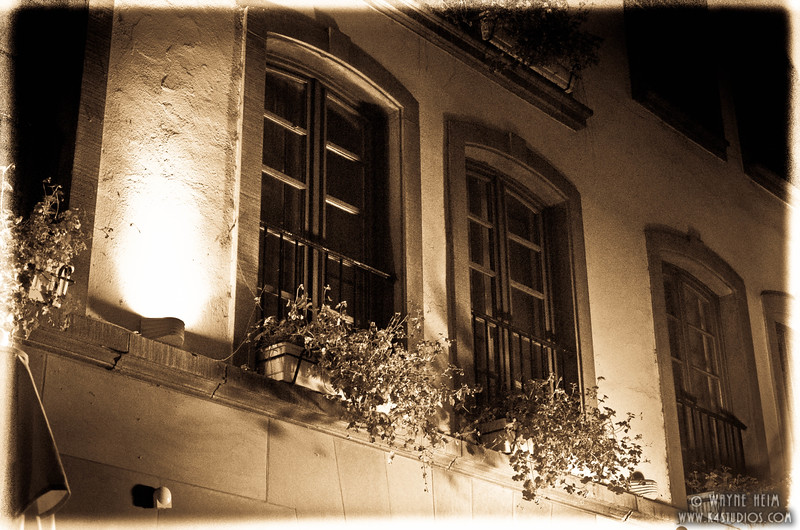 Window Boxes at Night    Photography by Wayne Heim