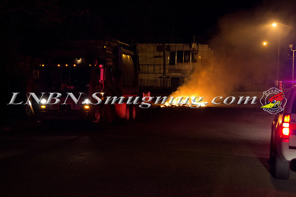 Westbury F.D. Rubbish Fire Ring Rd. & South St. 4-6-12