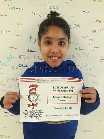 Scholar of the Month- January