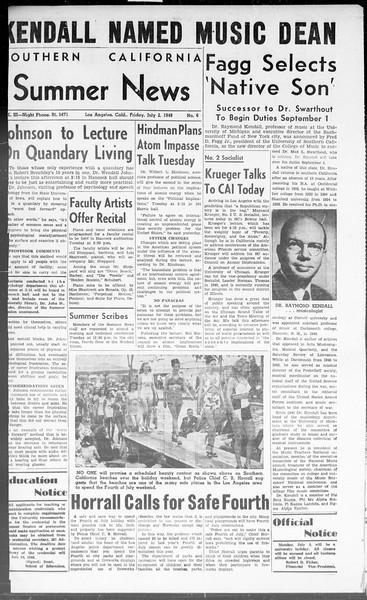 Summer News, Vol. 3, No. 6, July 02, 1948