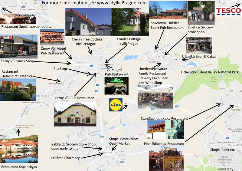 Map Pubs and Restaurants IdyllicPrague
