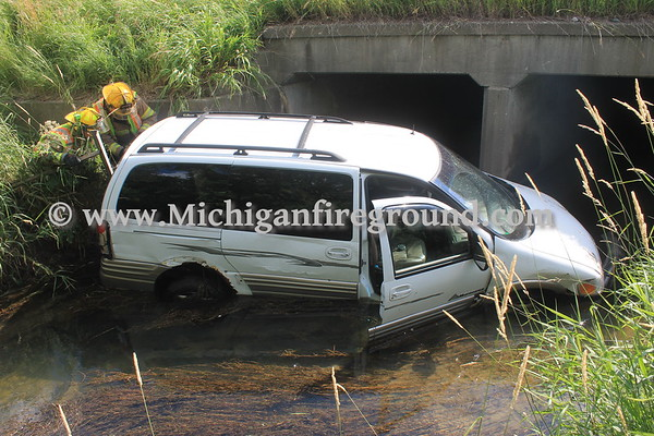 6/27/17 - Mason car into a creek, Northbound US-127 entrance ramp from Kipp Rd
