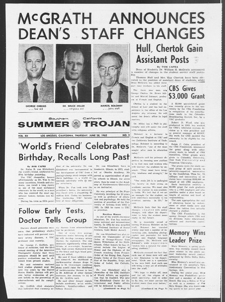 Summer Trojan, Vol. 12, No. 2, June 28, 1962