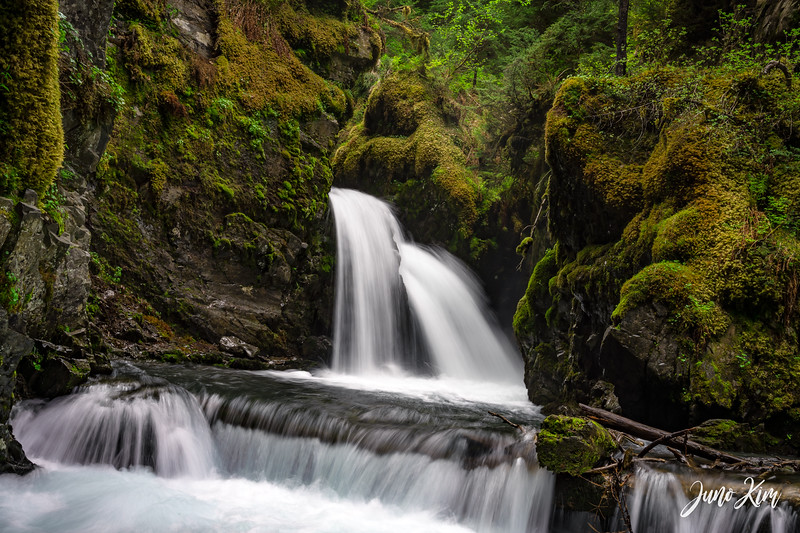 Virgin Creek Falls in Girdwood