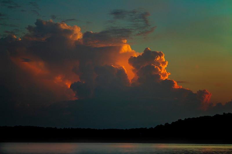 7.9.19 - Beaver Lake: Sunrise over Coose Hollow