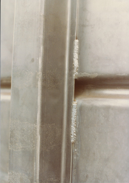 Detail of Skip Welding and corrugated body sides
