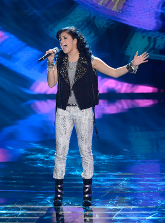 . AMERICAN IDOL XIII:  Jena Irene peforms on AMERICAN IDOL XIII airing Wednesday, Feb. 26 (8:00-10:00 PM ET / PT) on FOX. CR: Michael Becker / FOX. Copyright 2014 / FOX Broadcasting.