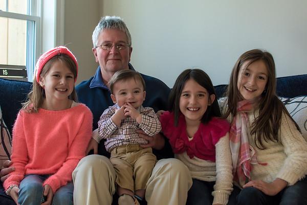 Grampy with Grandkids 2015