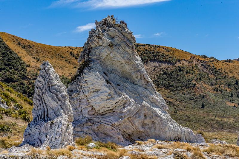 Kalksteinfelsen an der Küste bei Ward