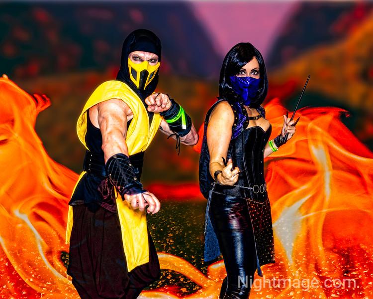 Scorpion and Mileena