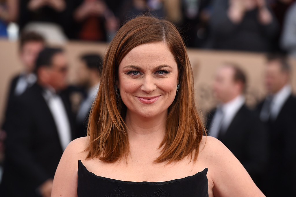 . Amy Poehler arrives at the 22nd annual Screen Actors Guild Awards at the Shrine Auditorium & Expo Hall on Saturday, Jan. 30, 2016, in Los Angeles. (Photo by Jordan Strauss/Invision/AP)