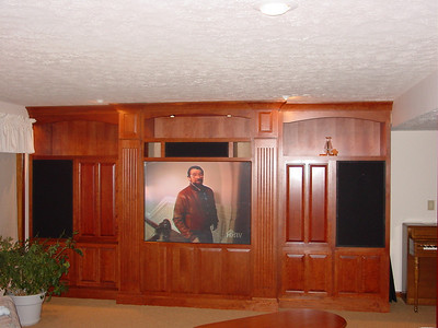 Basement Entertainment Center 2001