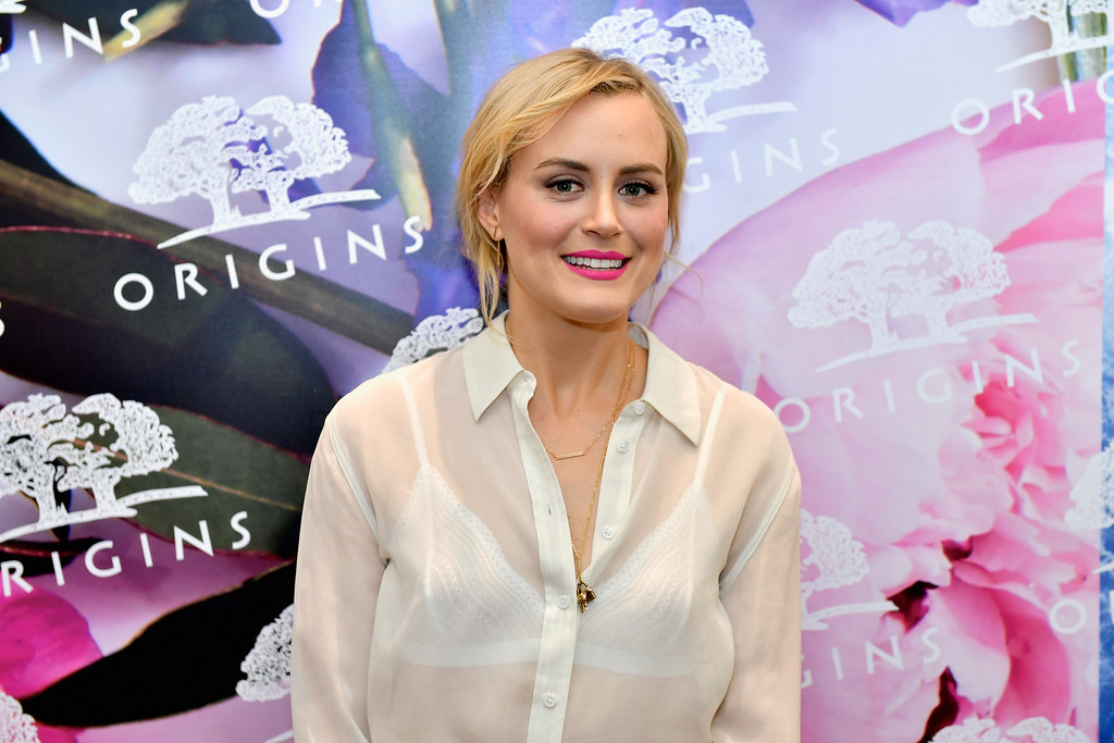 . BOSTON, MA - MAY 18:  Taylor Schilling celebrates unveiling of Origins newly redesigned Harvard Square store on May 18, 2016 in Boston, Massachusetts.  (Photo by Paul Marotta/Getty Images for Origins)