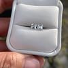 1.47ctw Carre Cut Diamond Pair GIA F VS2 8