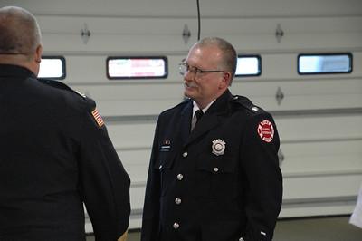 Deputy Chief Robert Hoff swearing in ceremony