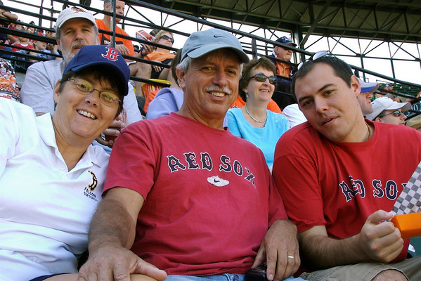 Family at the Red Sox September 2009