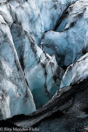 glacier-walking (with crampons) on Myrdalsjokull