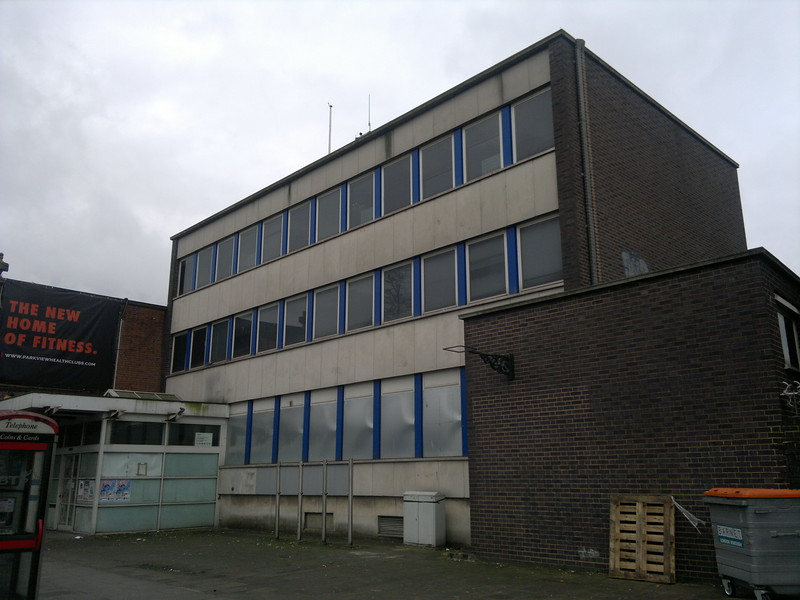 Finchley Central Police Station boarded up ready for re-development.jpg