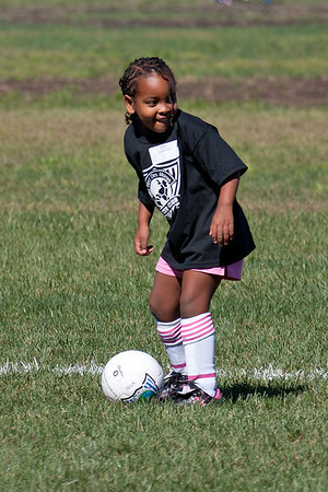 Amara's First Soccer Practice