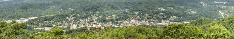 Sweeping panorama view of the city, including Flag Rock, from the Flag Rock Recreation Area Overlook in Norton, VA on Tuesday, July 30, 2013. Copyright 2013 Jason Barnette