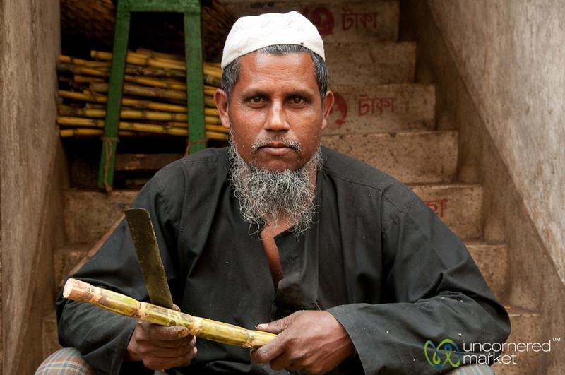 Don't Mess With Sugar Cane Vendor - Old Dhaka, Bangladesh