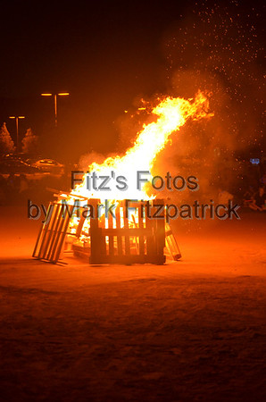 Night Rally with Bonfire