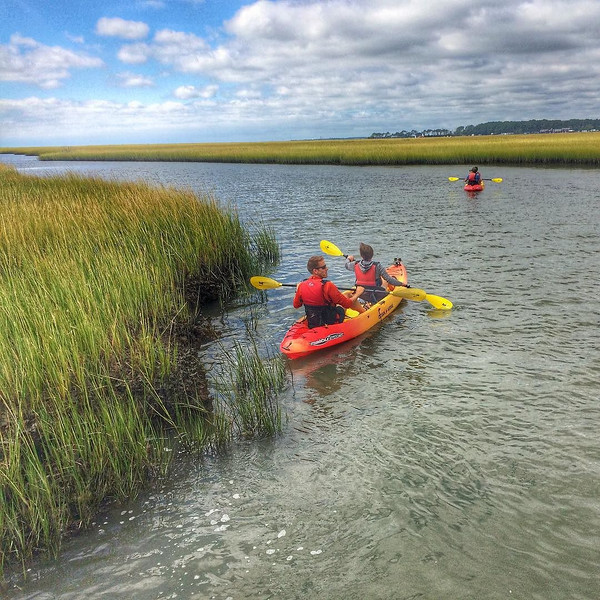 A long paddle through the high grass backwaters of the Assateague Channel on the lookout for the wild ponies. They spend their time in the marsh area of the Eastern Shore and Chincoteague, Virginia. A terrific approach, plus a little #adventure. via Instagram http://ift.tt/1Qu3jYt