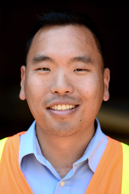 . Ricky Choi, community relations project manager of ACE. The Alameda Construction East railroad underpass at Baldwin Avenue and Gidley Street in El Monte is halfway complete as seen on Friday, May 16, 2014.  The 2-year project, which closed Baldwin Avenue, is one of 22 underpasses, from Los Angeles to Pomona, that are done or expected to be completed by 2019. (Photo by Sarah Reingewirtz/Pasadena Star-News)