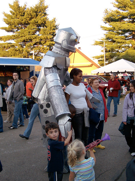 A robot was walking the midway.