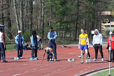 Men's 100 Meters and Steeple Chase - 2012 Northwood University T&F Invite