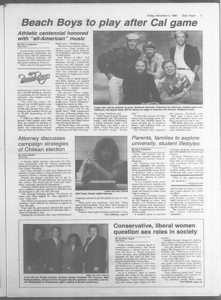 Daily Trojan, Vol. 107, No. 42, November 04, 1988