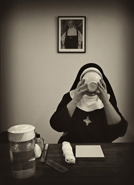20 mother justine sips from a bowl tyburn monastery.jpg