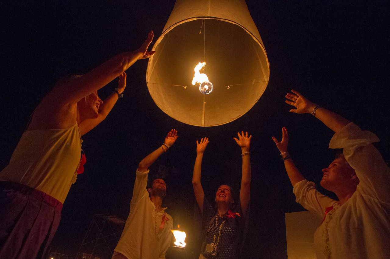 2012 Yee Peng Lantern Festival in Chiang Mai, Thailand