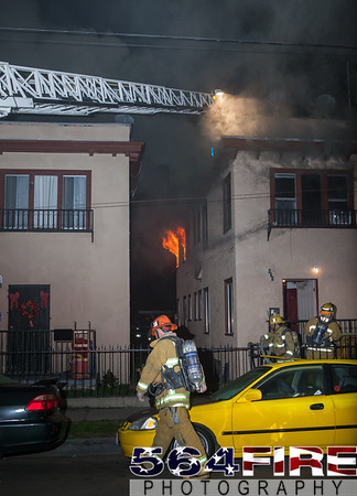 LAFD - Apt House Fire - 1-4-15