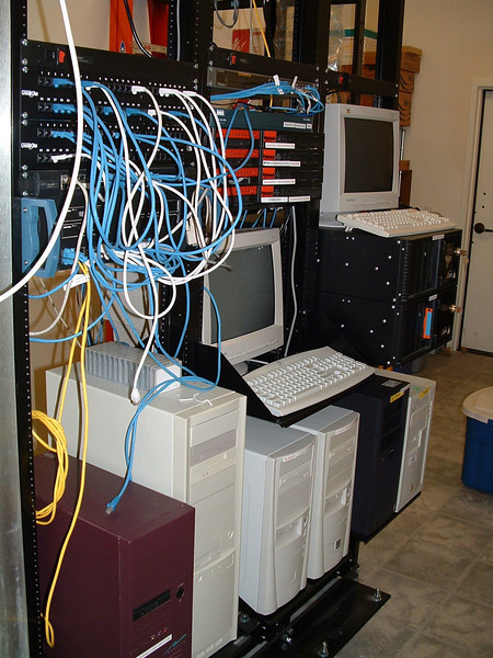 Server room at Edna Valley Office Building, San Luis Obispo, California