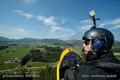 Flug mit dem Gyrocopter