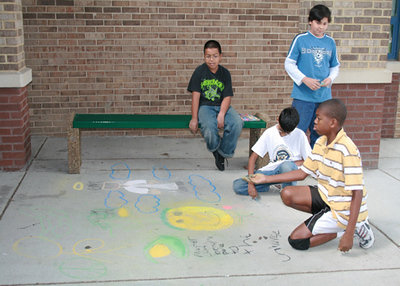 CHALK4PEACE 2008 Groveton Elementary School, Alexandria, VA