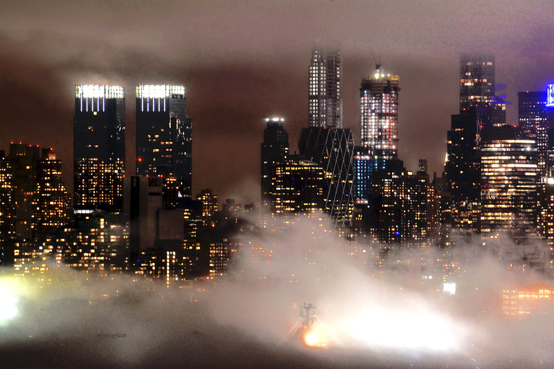 NYC NIght Fog
