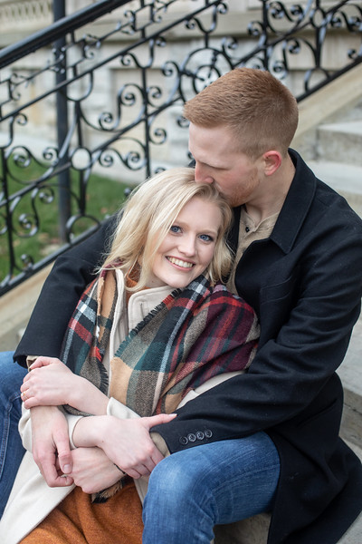 Downtown Columbus E-Session: Lyndsay + Jackson