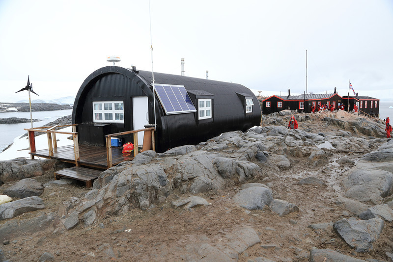 summer housing at Port Lockroy...